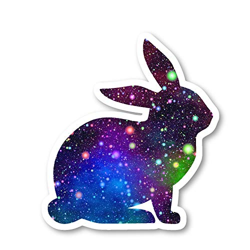 Bunny Sticker Bright Galaxy Stickers - 2 Pack - Laptop Stickers - 2.5' Vinyl Decal - Laptop, Phone, Tablet Vinyl Decal Sticker (2 Pack) S81877