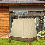 Bouder Gartenbank-Abdeckung, wasserdicht, groß, für draußen, mit 3 Sitzen, atmungsaktives Gewebe, klassisches Accessoire, Veranda-A-Rahmen für den Garten, Hof, alltäglich, ideal überall Nützlichkeit