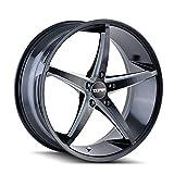 TOUREN TR70 Black/Milled Spokes Wheel (17 x 7.5 inches /5 x 74 mm, 40 mm Offset)