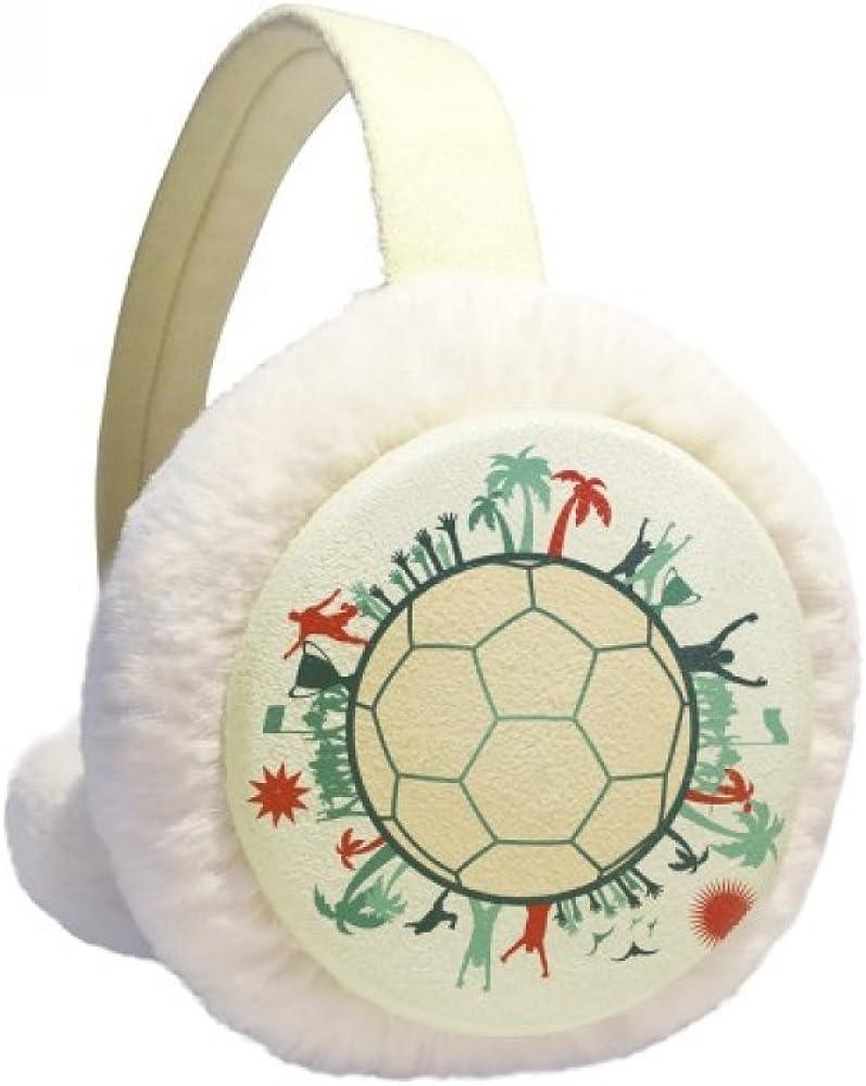 Earth Trees Soccer Football Sports Winter Ear Warmer Cable Knit Furry Fleece Earmuff Outdoor