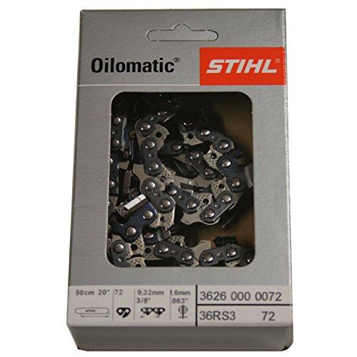 STIHL Sägekette Vollmeißel 1,6mm 3/8\'\' 50cm 72GL,RS3