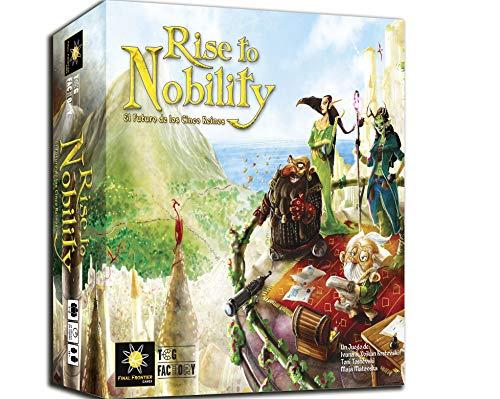 TCG Factory RISE TO NOBILITY Juego de mesa en español para 1 a 6 jugadores. Eurogame de estrategia ambientado en un mundo de fantasía. Juego de tablero.