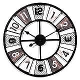 GANADA 23' Wanduhr Vintage Wanduhr Groß Wanduhr XXL Wanduhr Lautlos Wanduhr aus Eisen für Wohnzimmer, Küche, Büro und Schlafzimmer