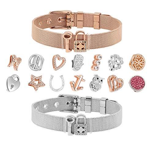Just4Trend Charms für Mesh Armband 10mm | Mesh Charmband | Mesh Charmarmband - austauschbar Module 085-RG