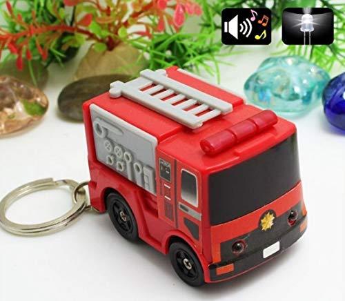 Familienkalender Feuerwehr rot mit LED und Sound (Sirene) (Rot Feuerwehr) | Feuerwehrmann | Geschenk für Kinder | Jungen |