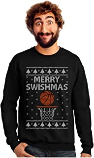 Tstars - Merry Christmas Swishmas Ugly Sweater for Basketball Lovers Sweatshirt