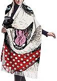 xianjing6 Bufandas del mantón del abrigo Womens Winter Scarf Cashmere Feel Portrait Siberian Husky Dog Wearing Scarves Stylish Shawl Wraps Soft Warm Blanket Scarves For Women