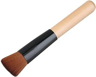 Bpretty Flat Angled Wooden Liquid Foundation Powder Contour Multifunction Makeup Brush Tool Artificial Fibre Burly wood & Black color NO 1