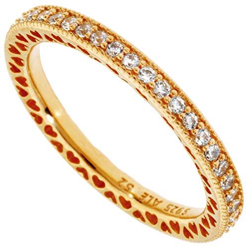 Pandora Shine 167076CZ Ring Damen Hearts Of Pandora Unendliche Herzen Silber Gold Gr. 58