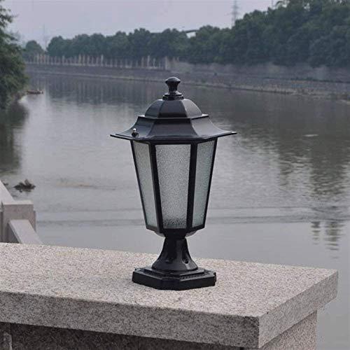 Suave, no deslumbrante Column headlight Columna Faro - Columna retro metal de aluminio de la linterna de jardín Iluminación europea Villa Patio lámpara de pared impermeable al aire libre de la lámpara