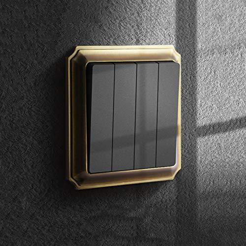 Foicags Panel de interruptores Personalidad doméstica Retro estilo europeo Alloy de zinc oculto tipo 86 interruptor de luz Hotel Restaurante Interior Luz de luz Controlador de pared Interruptor de par
