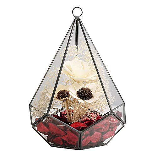 Y&M(TM) Bloem Pot Hanger, 6.8 inch Opknoping Geometrische Terrarium Glas Vaas Bloem Air Plant Pot Container Home Office Bruiloft Decoratie. PQ003