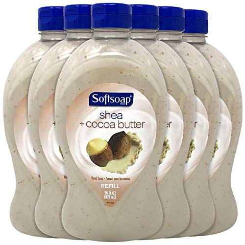 Softsoap Liquid Hand Soap Refill, Cocoa Butter and Shea, 28 Ounce (Pack of 6)