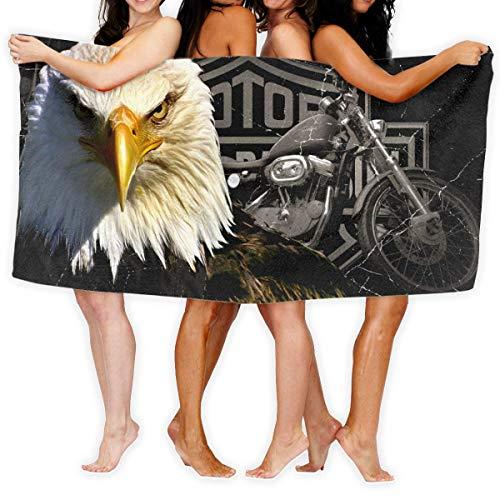 HUTTGIGHT Harley Davidson Comic Toalla de Playa Absorbente