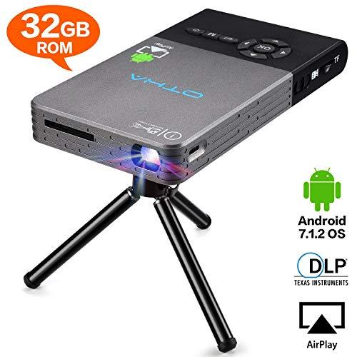 OTHA Mini Proyector, Portátil DLP LED Video Proyectors , 32GB Rom HDMI...