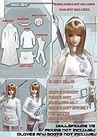 ドールズフィギュア CC98C 1/6 Female White Long Overcoat Clothing Full Set 【dollsfigure】