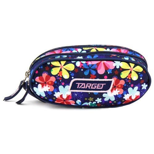 Target Cible Kids 'Round 2 Zip Fleur Ciel Trousse, Multicolore, Taille Unique