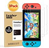 [3 Pack] Screen Protector Tempered Glass for Nintendo Switch, iVoler Transparent...