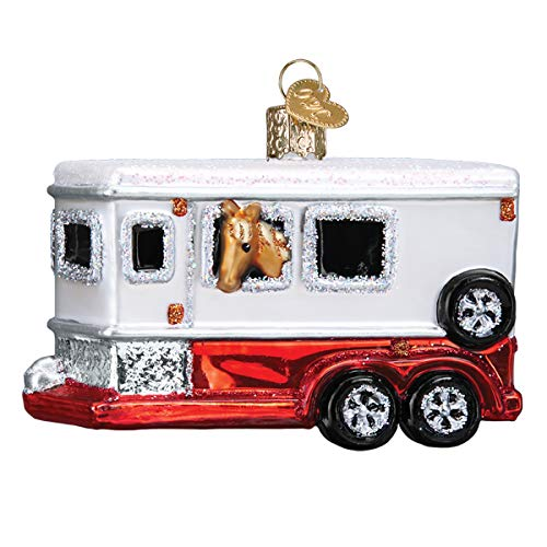 Old World Christmas Ornaments Horse Trailer Glass Blown Ornaments for Christmas Tree