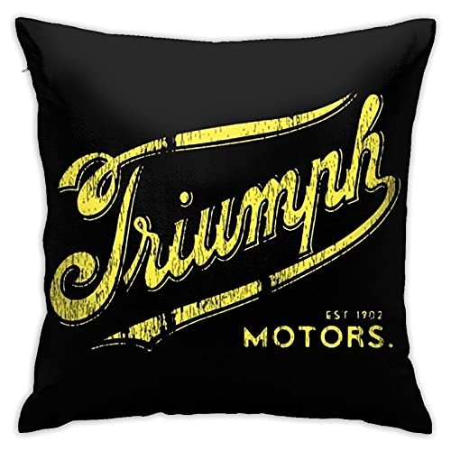 PhyShen Vintage Triumph Motorcycle Novelty Unique Fundas de Cojines Fundas de Almohada para sofá de Dormitorio Funda de Almohada Cuadrada Decorativa para el hogar Pillow Covers