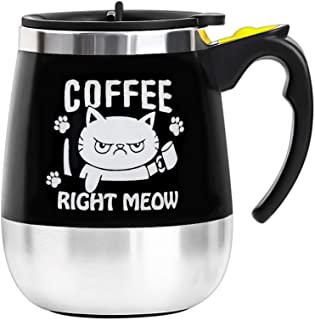 Update Self Stirring Mug Auto Self Mixing Stainless Steel Cup for Coffee/Tea/Hot Chocolate/Milk Mug for Office/Kitchen/Travel/Home -450ml/15oz (COFFEE RIGHT MEOW)