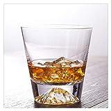 Aiglen Vaso de Cristal Fuji, Copas de Vino de Whisky, Cerveza, Hielo, Brandy, Vaso para Beber, Vaso Sobrio, Vasos con Fondo Grueso