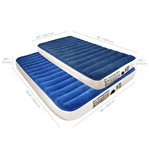 SoundAsleep Camping Series Air Mattress with Eco-Friendly PVC - Included Rechargeable Air Pump (Twin)