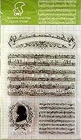 クリアスタンプ 楽譜 シリコン 判子 手帳や手作りカードに