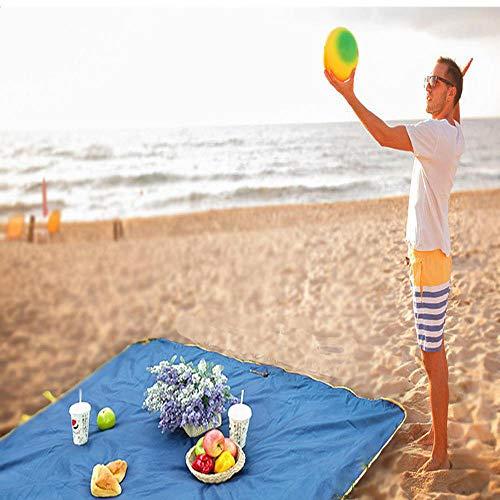 Zuichu Multifunctioneel picknick tapijt waterdicht eenvoudige reistas 145 * 145 cm strandtas picknick mat