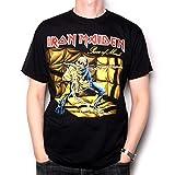 Old Skool Hooligans Iron Maiden T Shirt - Piece of Mind Black