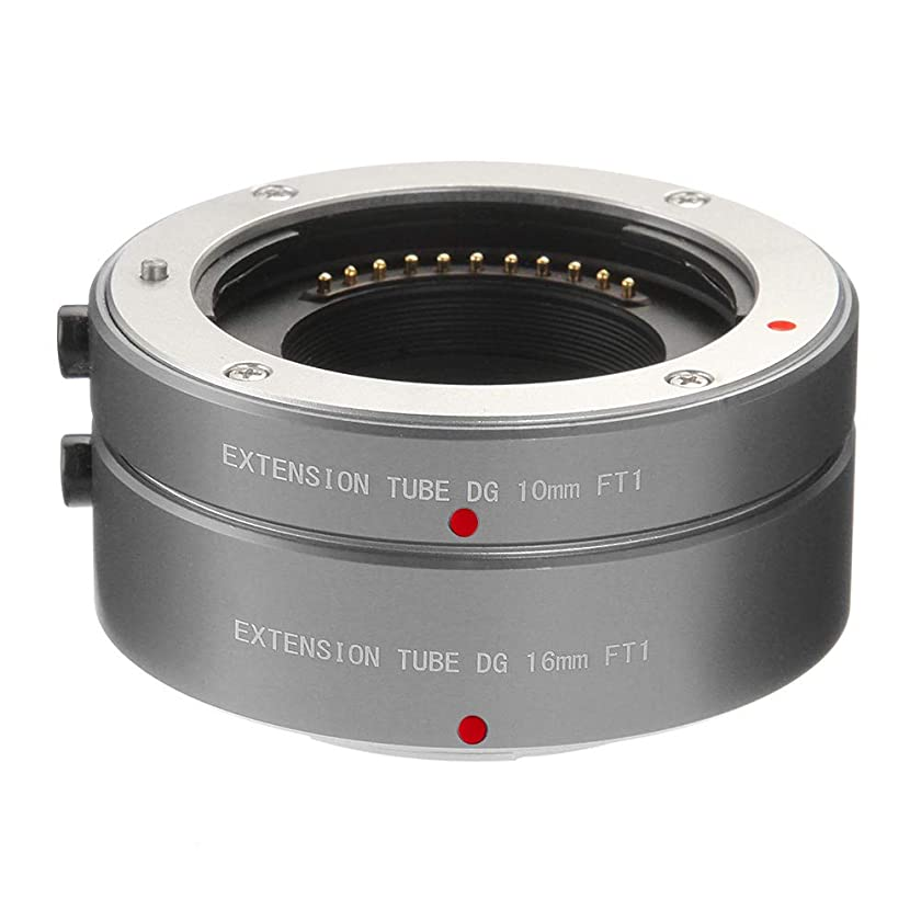 FOTGA Metal Auto Focus Macro Extension Tube 10mm+16mm Set for Micro Four Thirds MFT M4/3 Mount GH1/2/3 GH4 GH5 GH5s E-PM1 E-PM2 E-PL1/2/3 E-M10 II III E-PL7/8/9 Pen-F Cameras (Grey)