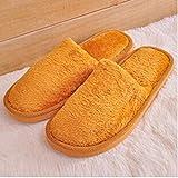 Flip Flop-GQ Zapatillas de casa Zapatillas de casa de Espuma de Memoria cálida de Invierno con Suela de Goma Antideslizante para Interior/Exterior para Mujeres y Hombres-Khaki_44-45