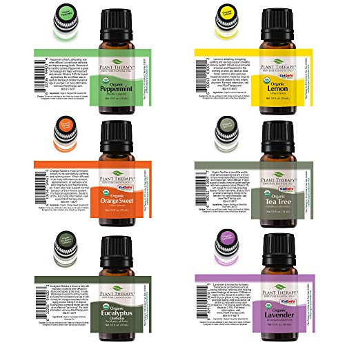 Plant Therapy Top Six Organic Essential Oil Selection