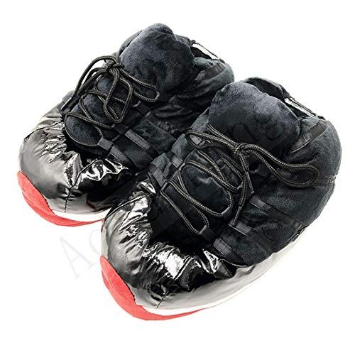 XHBYG Women/Men Cute Bread Shoes, Women Warm Home Slippers Ladies Home Shoes Big Size 36-44 House Snug Sneakers Woman Slippers 8 Black1