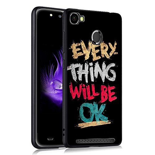 Easbuy Handy Hülle Soft Silikon Hülle Etui Tasche für HOMTOM HT50 Smartphone Cover Handytasche Handyhülle Schutzhülle