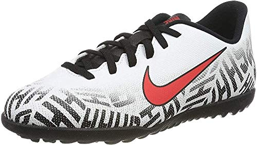 Nike JR Vapor 12 Club GS NJR TF, Scarpe da Calcetto Indoor Unisex-Adulto, Multicolore (White/Challenge Red/Black 170), 37.5 EU