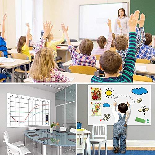 Besttruketホワイトボードシート壁に貼ってはがせる黒板シート90*200cmカットできます取り付け簡単書きやすくて消しやすいDIYの組み合わせ壁紙・学習塾・オフィス・会議室・学校メモ落書き掲示板メニューボードなどに