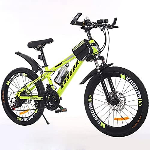 GYF Bicicleta de montaña Mountainbike Bicicleta Montaña for Bicicleta de 26 Pulgadas de Doble Freno de Disco de la Bici MTB Bicicleta Mountainbike Bicicleta De Montaña (Color : Yellow, Size : 20inch)