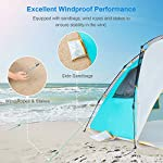 WolfWise 4-5 Person Easy Up Beach Tent UPF 50+ Instant Sun Shelter Canopy Outdoor Sport Umbrella Sun Shade Tent with… 6