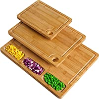 3-Pack Bamboo Cutting Boards for Kitchen