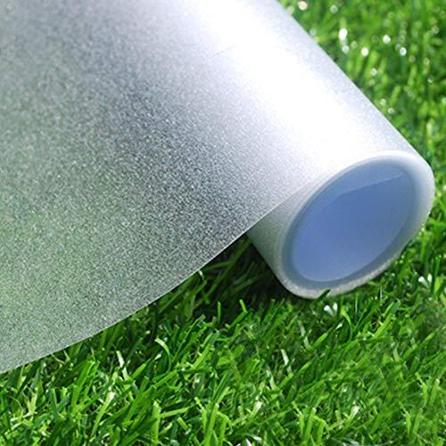 LATERN Fensterfolie Milchglas selbstklebend Blickdicht Sichtschutzfolie Fenster Milchglasfolie Statische Fensterfolien Anti-UV Folie Für Bad, Büro, Wohnzimmer [40x200cm]
