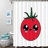 Brandless Tomate Duschvorhang Natur Pflanze Wasserdicht Badezimmer Duschvorhang Tropisches Gemüse Badezimmer Duschvorhang-180x240cm