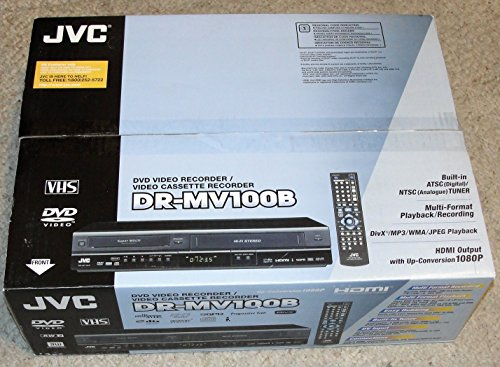 Great Deal! JVC DRMV100B 1080p Upconverting DVD Recorder VCR Combo with Built-in Tuner