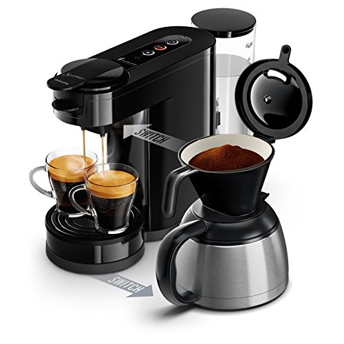 Philips Senseo Switch 2in1-Kaffeemaschine Senseo Switch Noire