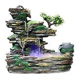 Xilinshop-Fuentes decorativas Fuente de Piedra de montaña de Interior...