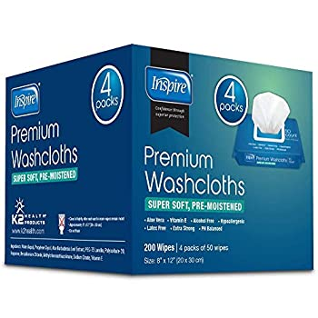 Adult Wet Wipes   Adult Wash Cloths Extra Large Adult Wipes for Incontinence & Cleansing 8 x12  200 ct …