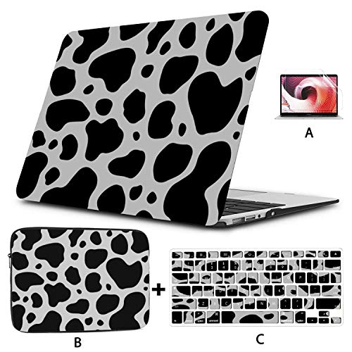 MacBook Air Cover Brown and White Chocolate Animal Mac Book Pro Cover Hard Shell Mac Air 11'/13' Pro 13'/15'/16' with Notebook Sleeve Bag for MacBook 2008-2020 Version