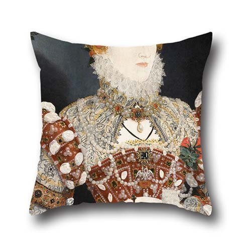 20 X 20 Inches / 50 By 50 Cm Oil Painting Nicholas Hilliard (called) - Portrait Of Queen Elizabeth I Throw Cushion Covers ,twin Sides Ornament And Gift To Kids Boys,dinning Room,couples,bf,chair,bench