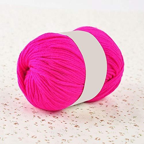 50 g a mano ganchillo artesanía DIY suave cómodo color sólido lana hilo rojo mezcla cómodo y...