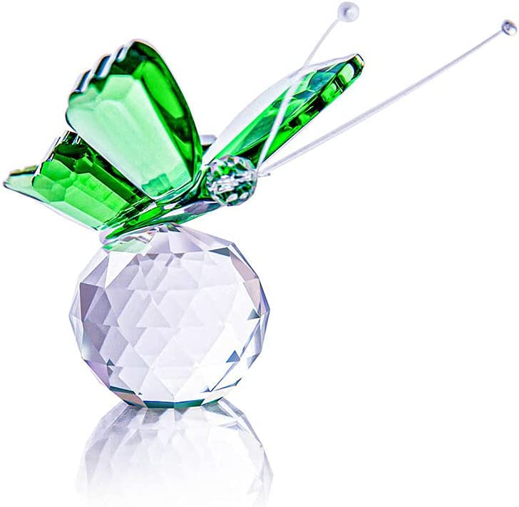 BMILY Crystal Flying Butterfly with Base Glass Ball Large-scale sale OFFicial mail order Cut